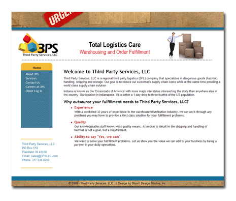 Third Party Services, LLC Website Desig
