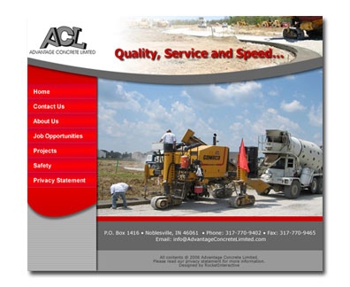 Advantage Concrete Limited Website Design