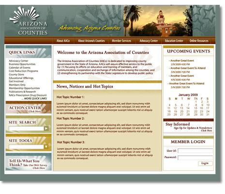 Arizona Association of Counties, Website Design