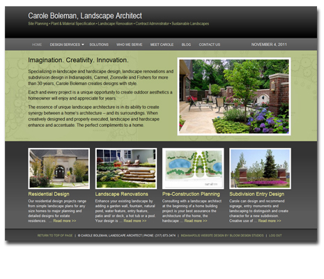 Carole Boleman Landscape Architect WordPress Website Design and Development