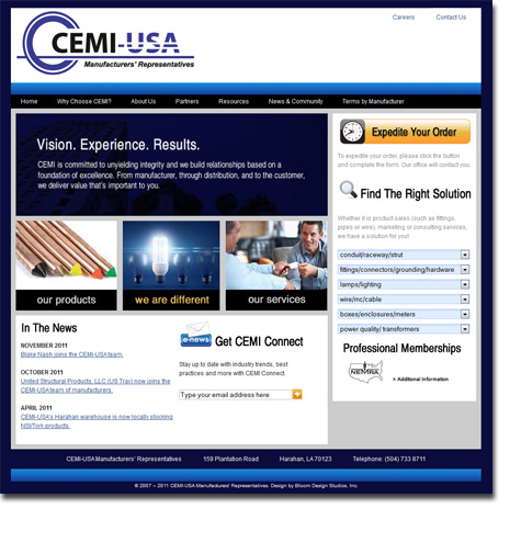 CEMI-USA Web Site Design