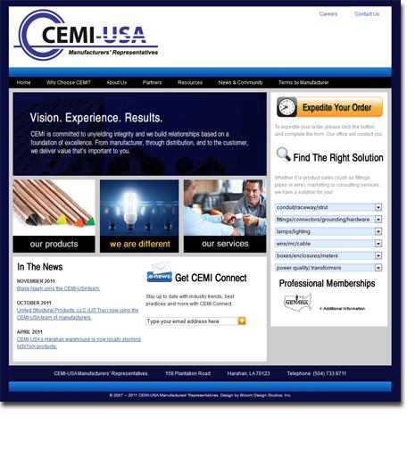 CEMI-USA Web Site Design
