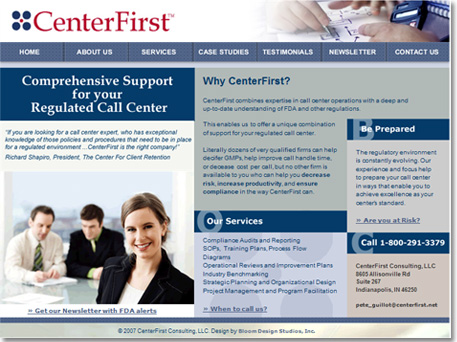 Center First Consulting Website Design