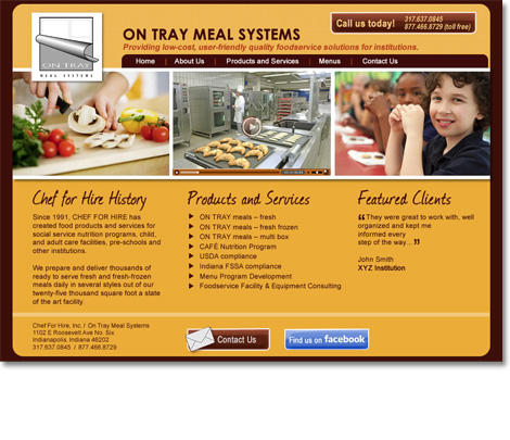 Chef for Hire Website Design