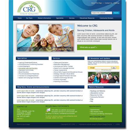 Children's Resource Group WordPress Website Design and Development