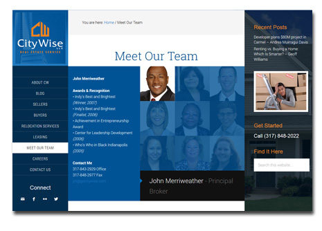 WordPress Website Design - CityWise Real Estate Services