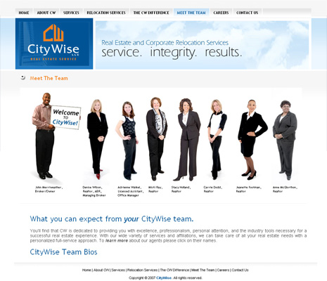 City Wise Real Estate Website Design and Development