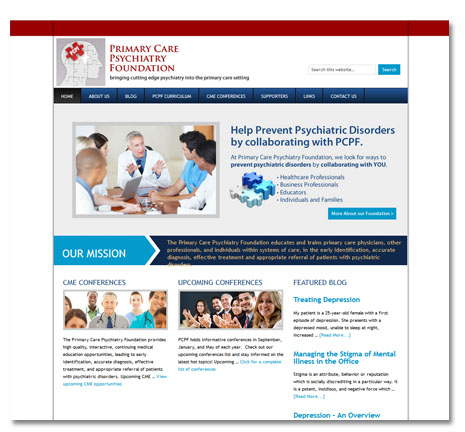 WordPress Website Design- Primary Care Psychiatric Foundation