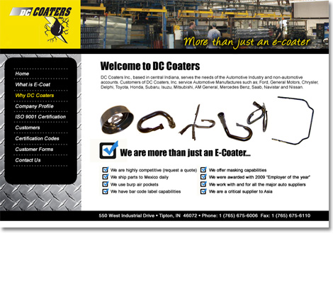 DC Coaters Website Design