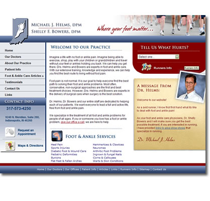 Indy Podiatry - Michael J. Helms, DPM Website Design
