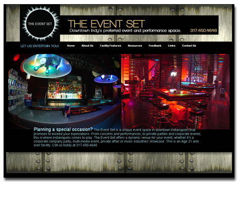 The Event Set Website Design