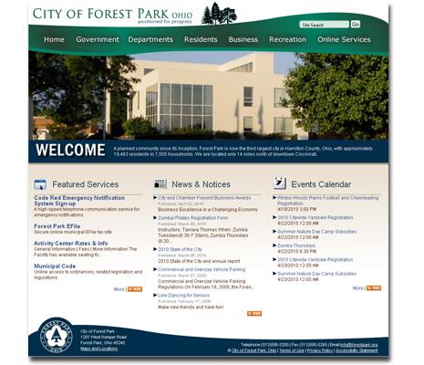 City of Forest Park OH website design