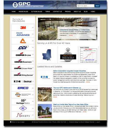 General Power & Control Corp WordPress Website Design