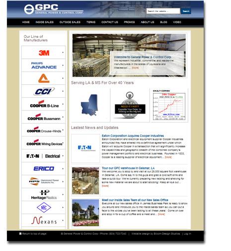 General Power & Control Corp WordPress Website Design