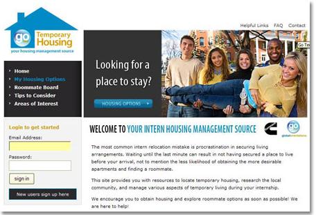 Global Orientations GoTempHousing Website Design