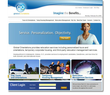 Global Orientations Website Design