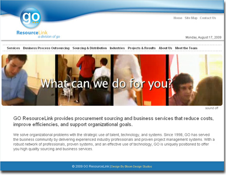 Go ResourceLink Website Design