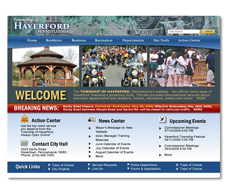 Township of Haverford, PA Website Design