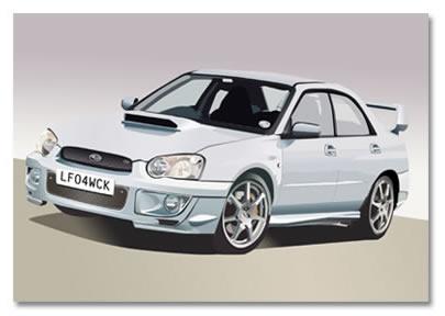 Car Illustration using Photoshop
