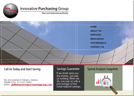 Innovative Purchasing Group Website Design