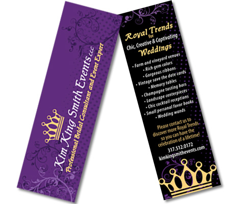 Promotional Bookmark Design Indianapolis