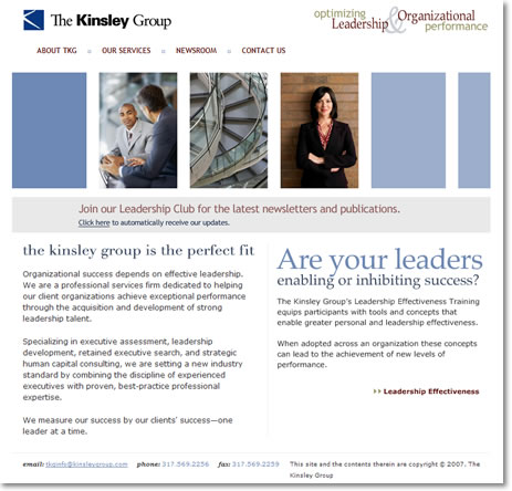 The Kinsley Group Website Design