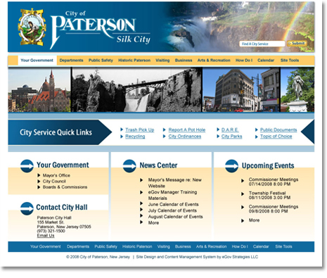 City of Paterson, NJ Website Design