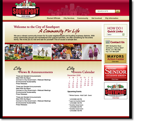 City of Southport Indiana Website Design