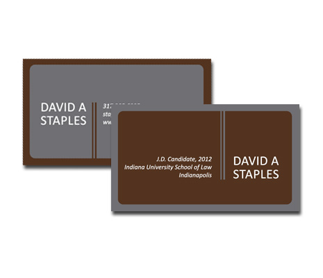 Personal Business Card Design Indianapolis