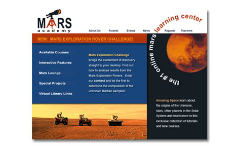 Mars Academy Website Design