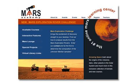 Mars Academy Website Design