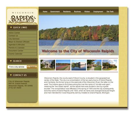 City of Wisconsin Rapids, WI Website Design