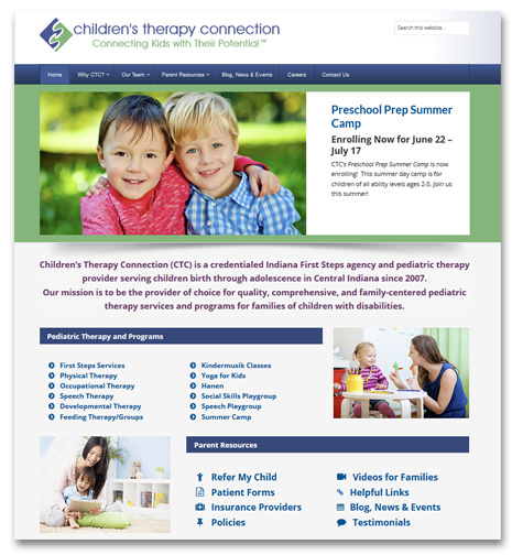 WordPress Website Design and Development - Children's Therapy Connection